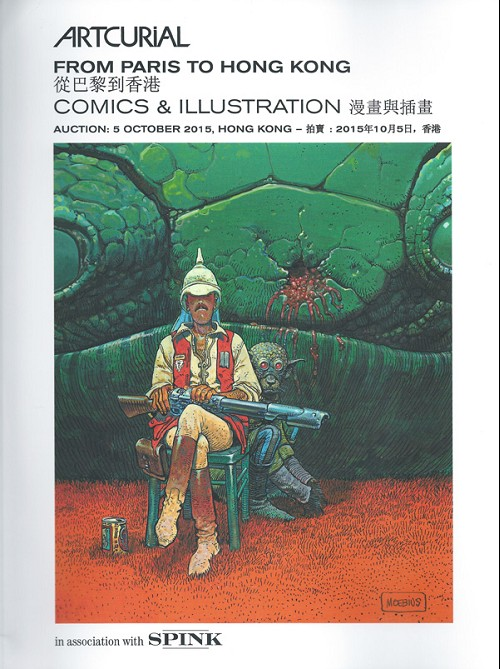 Couverture de (Catalogues) Ventes aux enchères - Artcurial - Artcurial & Spink - From Paris to Hong Kong / Comics & Illustration - 5 octobre 2015 - Hong Kong