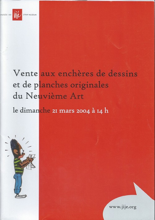 Couverture de (Catalogues) Ventes aux enchères - Divers - Musée Jijé - Dessins et planches originales du Neuvième Art - dimanche 21 mars 2004 - Bruxelles musée BD Jijé