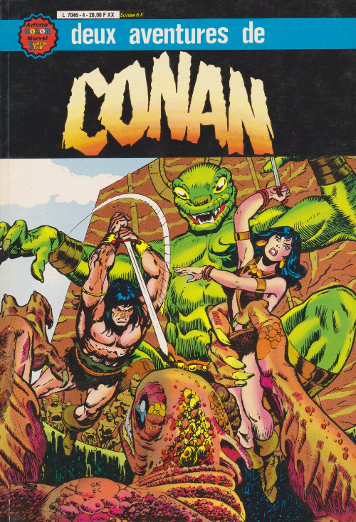 Couverture de Conan le barbare (1re série - Aredit - Artima Marvel Color) -Rec06- Album N°4 (n°11 et n°12)