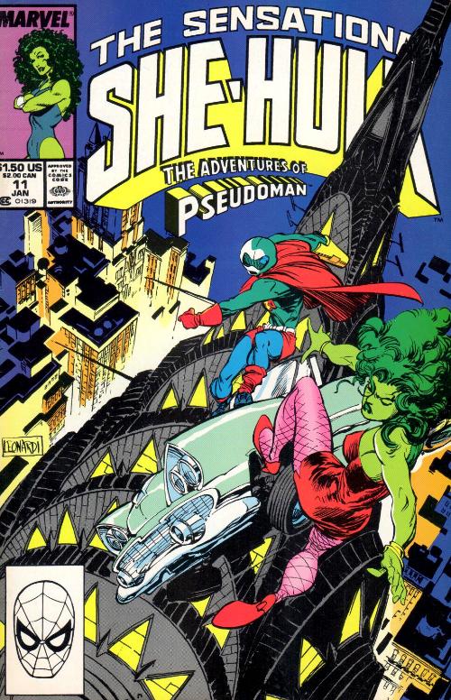 Couverture de Sensational She-Hulk (The) (1989) -11- The Adventure Of Pseudo-Man