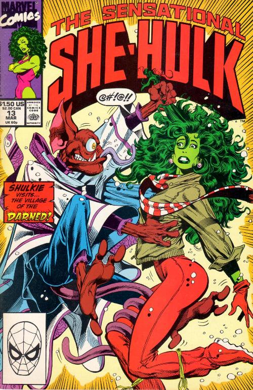 Couverture de Sensational She-Hulk (The) (1989) -13- Village Of The Darned!