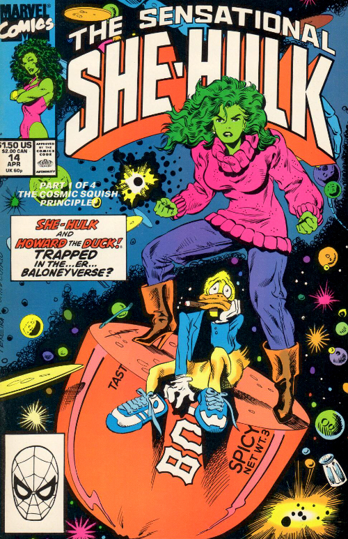Couverture de Sensational She-Hulk (The) (1989) -14- A Baloney Place Of Dying!