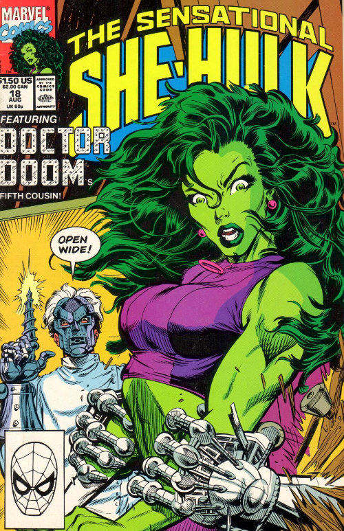 Couverture de Sensational She-Hulk (The) (1989) -18- The Dentist In The Iron Mask!