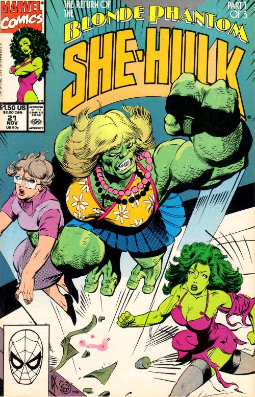 Couverture de Sensational She-Hulk (The) (1989) -21- Atomic Secrets!