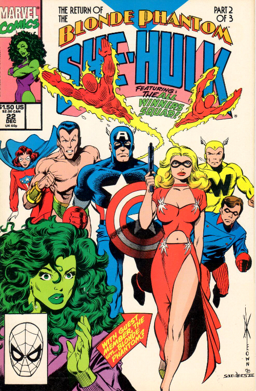Couverture de Sensational She-Hulk (The) (1989) -22- Blondes & Bombshells!