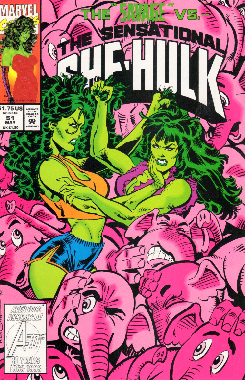 Couverture de Sensational She-Hulk (The) (1989) -51- Chasing Her Tale