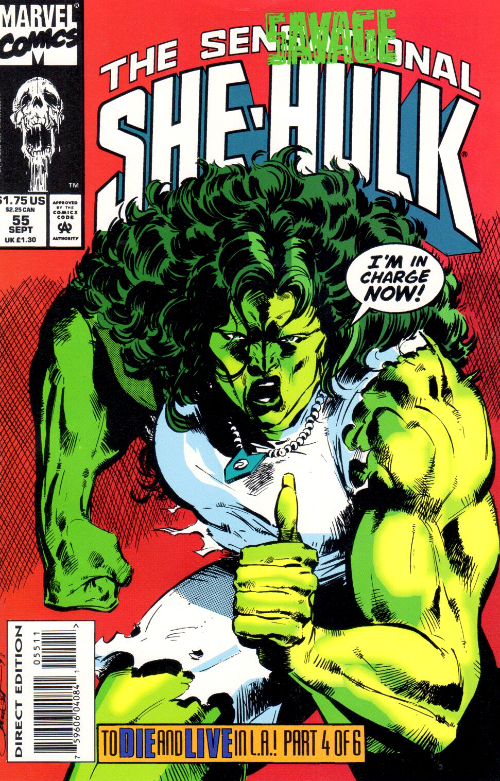 Couverture de Sensational She-Hulk (The) (1989) -55- The Young And The Resurrected