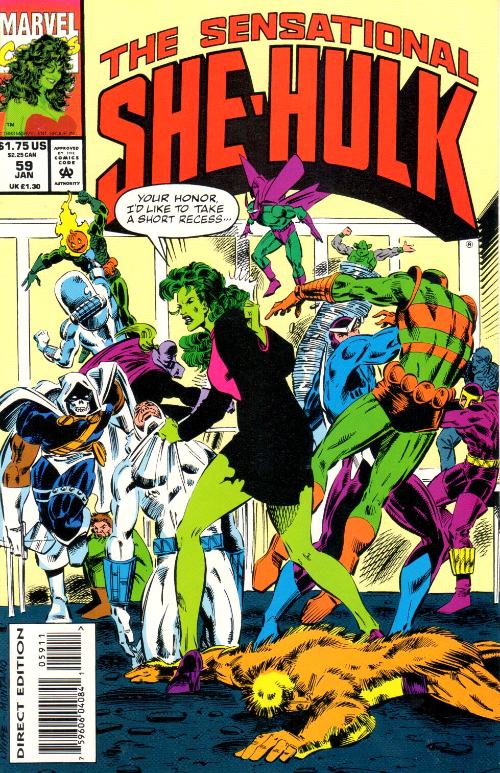 Couverture de Sensational She-Hulk (The) (1989) -59- Disorder In The Court