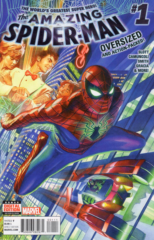 Couverture de Amazing Spider-Man (The) (2015) -1- The World's Greatest Super Hero !