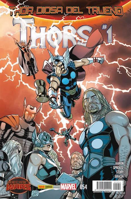 Couverture de Poderoso Thor: Dios Del Trueno (El) -54- Thors #1 - Secret Wars