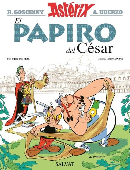 Couverture de Astérix (en espagnol) -36- El Papiro del César