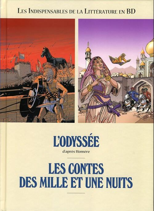 Couverture de Les indispensables de la Littérature en BD -FL11- L'Odyssée / Les Contes des mille et une nuits