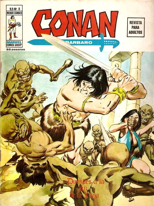 Couverture de Conan (Vol. 2) -8- Duendes a la Luz de la Luna