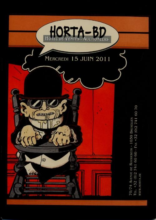 Couverture de (Catalogues) Ventes aux enchères - Divers - Horta-BD - mercredi 15 juin 2011 - Bruxelles