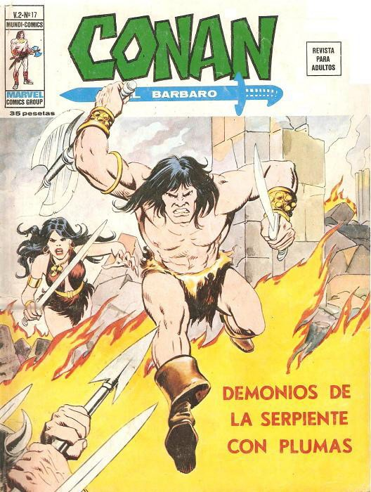 Couverture de Conan (Vol. 2) -17- Demonios de la Serpiente con Plumas