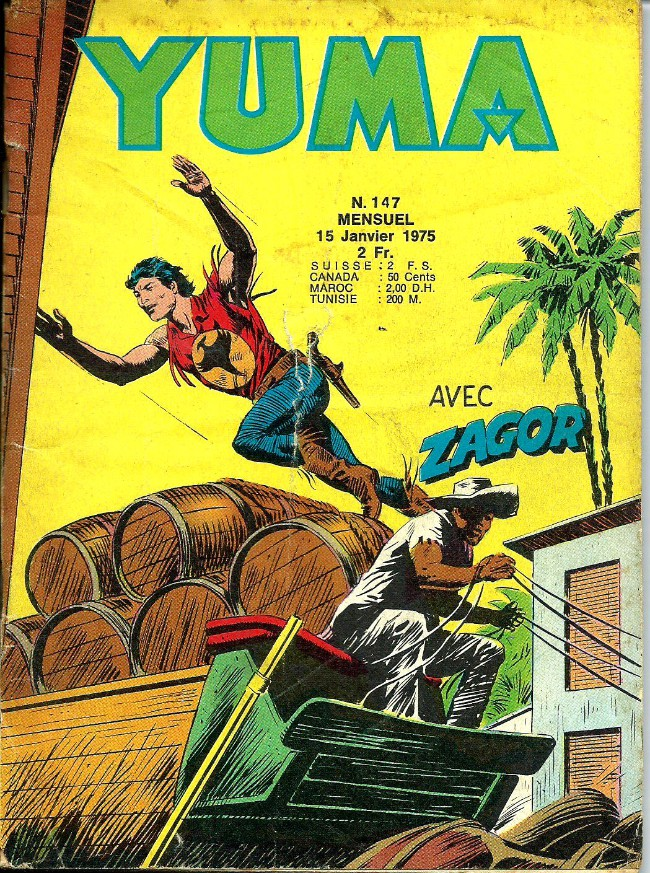 Couverture de Yuma (1re série) -147- Le trésor de l'Esmeralda