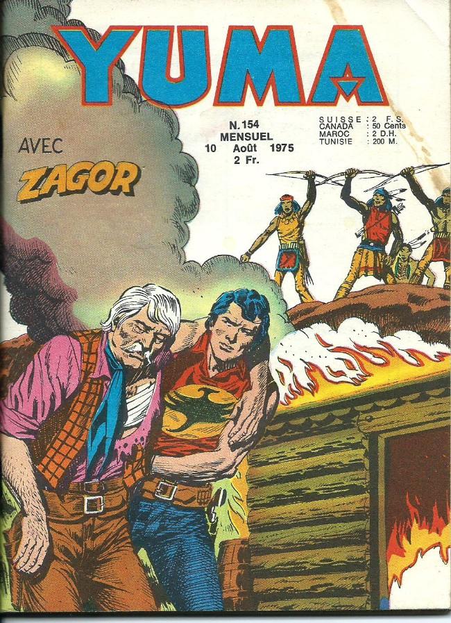 Couverture de Yuma (1re série) -154- La vengence de Zagor