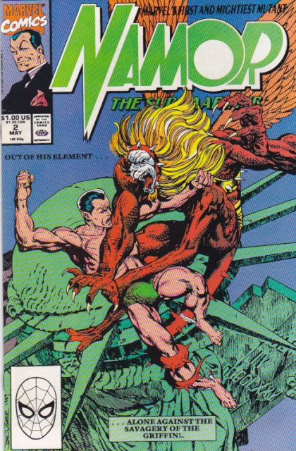 Couverture de Namor, The Sub-Mariner (Marvel - 1990) -2- Eagle's wing