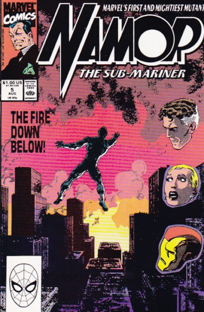 Couverture de Namor, The Sub-Mariner (Marvel - 1990) -5- All the rivers burning!