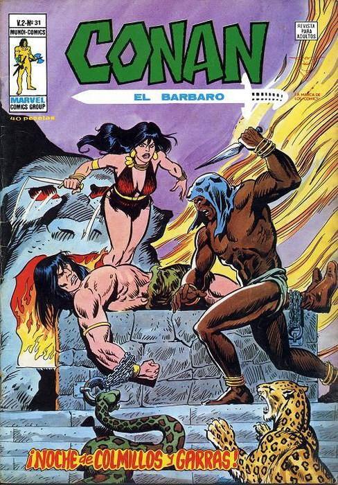 Couverture de Conan (Vol. 2) -31- ¡Noche de Colmillos y Garras!