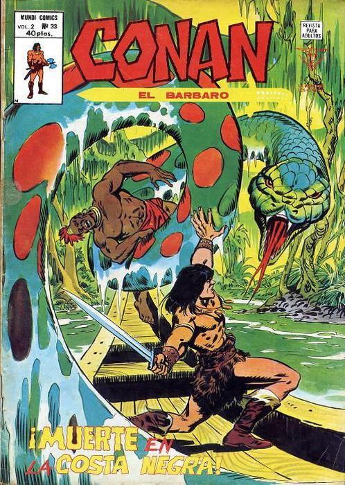 Couverture de Conan (Vol. 2) -33- ¡Muerte en la Costa Negra!