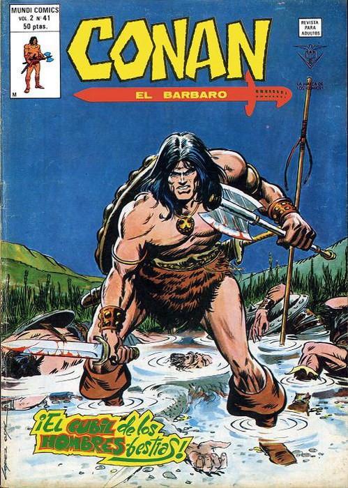 Couverture de Conan (Vol. 2) -41- ¡El Cubil de los Hombres-Bestias!