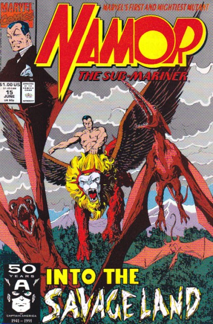 Couverture de Namor, The Sub-Mariner (Marvel - 1990) -15- Into the savage land