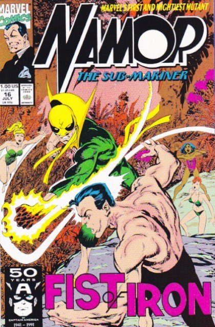 Couverture de Namor, The Sub-Mariner (Marvel - 1990) -16- Fist of iron