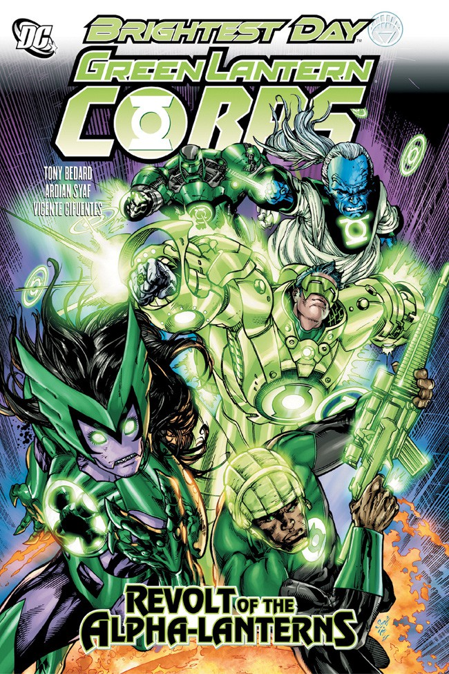 Couverture de Green Lantern Corps (2006) -INT07- Revolt of the Alpha-Lanterns