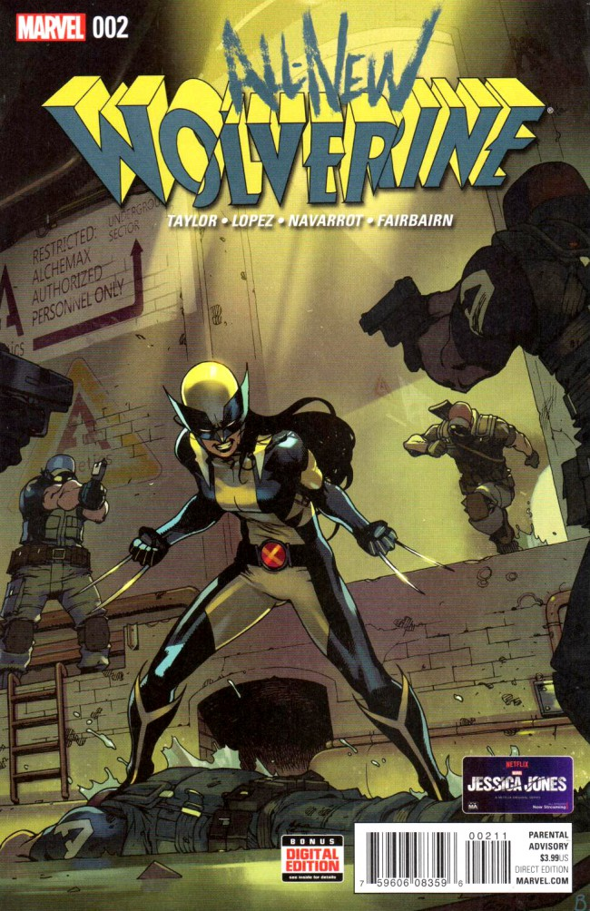 Couverture de All-New Wolverine (2016) -2- Issue 2