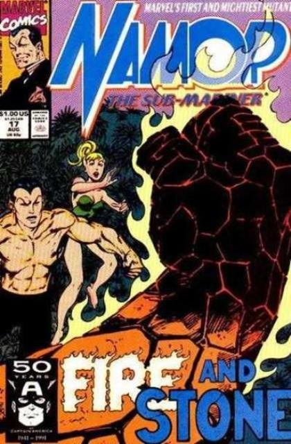 Couverture de Namor, The Sub-Mariner (Marvel - 1990) -17- Fire and stone