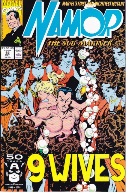 Couverture de Namor, The Sub-Mariner (Marvel - 1990) -19- 9 wives