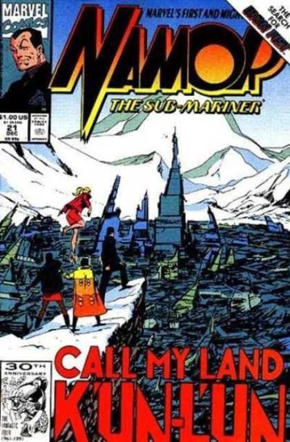 Couverture de Namor, The Sub-Mariner (Marvel - 1990) -21- Call my land k'un-l'un