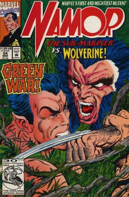 Couverture de Namor, The Sub-Mariner (Marvel - 1990) -24- Greenwich Village, New York. A House Which Few In This Vast City Have Ever Seen...