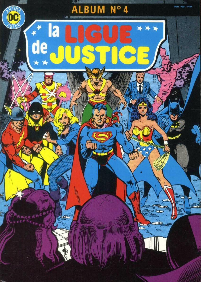 Couverture de La ligue de justice (1re série - Arédit - Artima Color DC Super Star puis Artima Color DC) -Rec04- Album N°4 (n°7 et n°8)