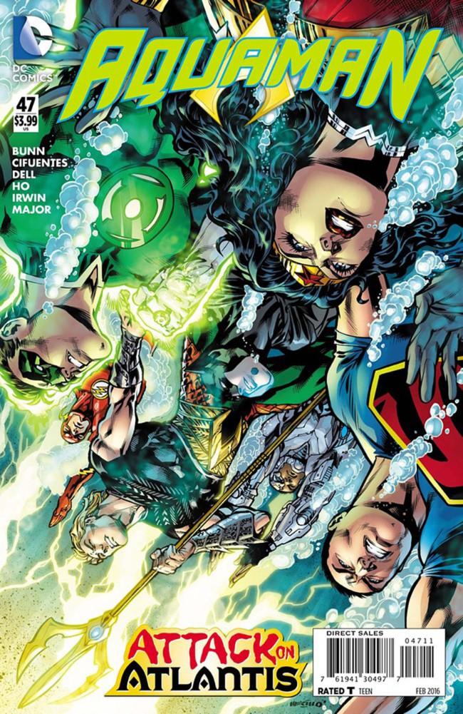 Couverture de Aquaman (2011) -47- Leagues Below, A League Above