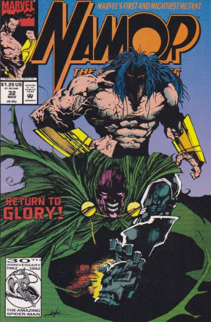 Couverture de Namor, The Sub-Mariner (Marvel - 1990) -32- Blood of the warrior