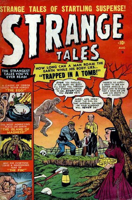 Couverture de Strange Tales (Marvel - 1951) -2- Trapped In the Tomb