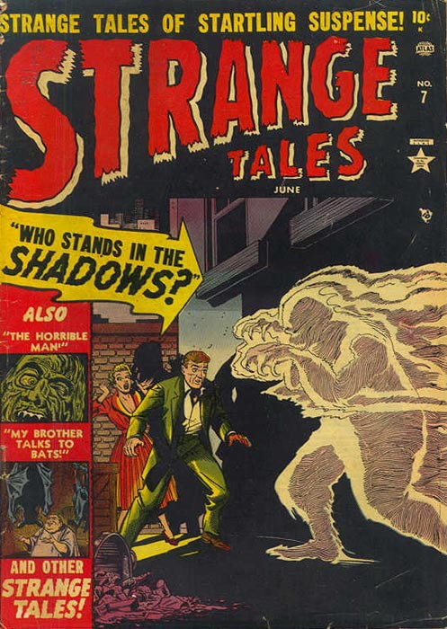 Couverture de Strange Tales (1951) -7- Who Stands In the Shadows?