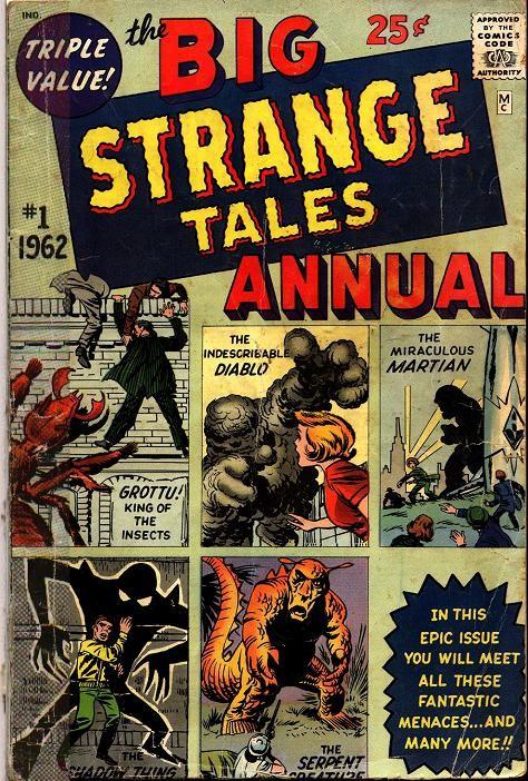 Couverture de Strange Tales (Marvel - 1951) -ANN01- The big Strange Tales annual 1