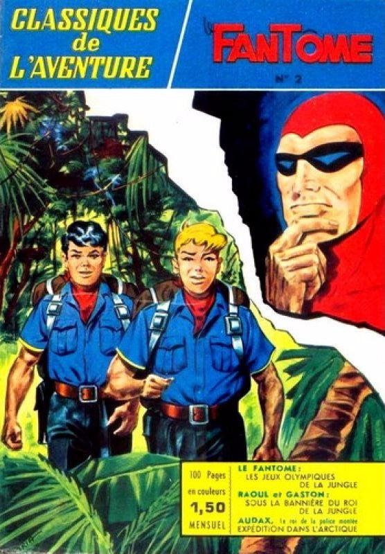 Couverture de Les héros de l'aventure (Classiques de l'aventure, Puis) -2- Le Fantôme : Les jeux olympiques de la jungle