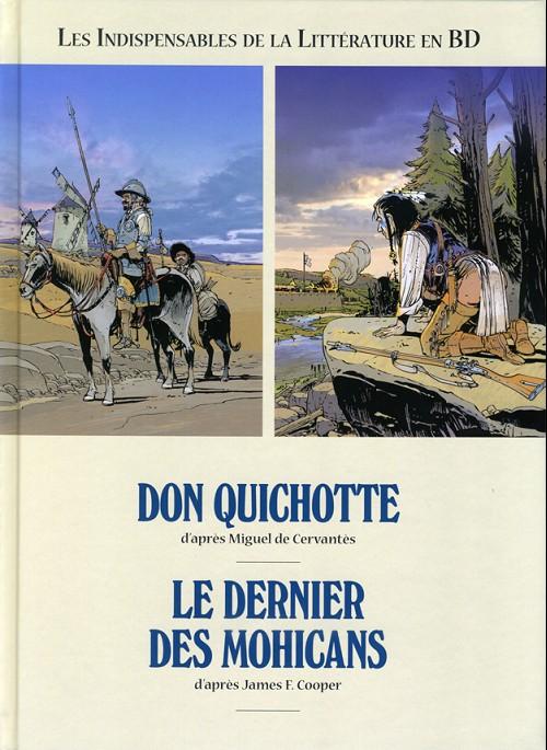 Couverture de Les indispensables de la Littérature en BD -FL12- Don Quichotte / Le Dernier des Mohicans