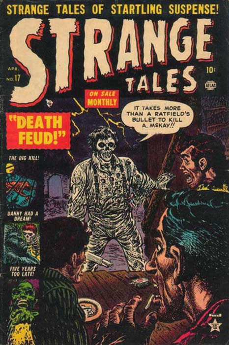 Couverture de Strange Tales (Marvel - 1951) -17- Death Feud!