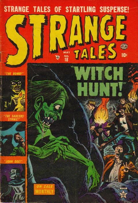Couverture de Strange Tales (1951) -18- Witch-Hunt!