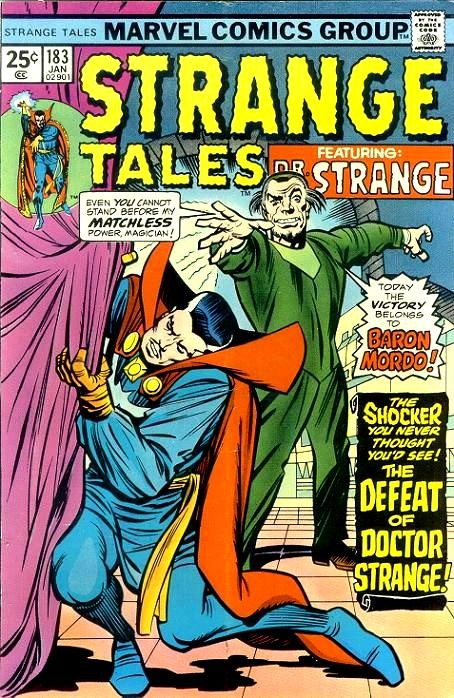 Couverture de Strange Tales (1951) -183- The Defeat of Dr. Strange / The Hunter and the Hunted