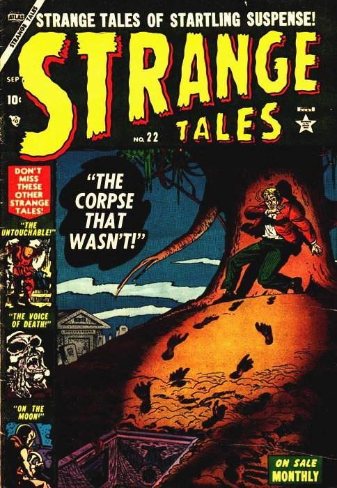 Couverture de Strange Tales (Marvel - 1951) -22- The Corpse That Wasn't