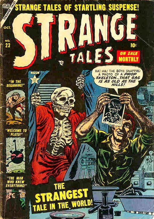 Couverture de Strange Tales (1951) -23- The Strangest Tale in The World!