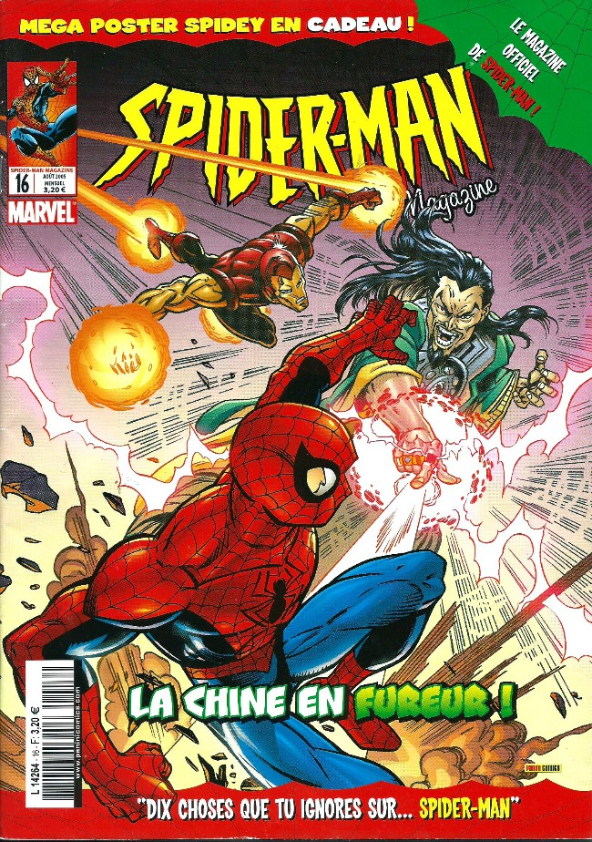 Couverture de Spider-Man (Magazine 4e série) -16- La chine en fureur!