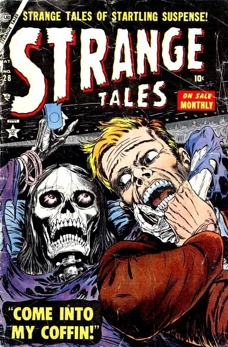 Couverture de Strange Tales (1951) -28- Come into My Coffin!