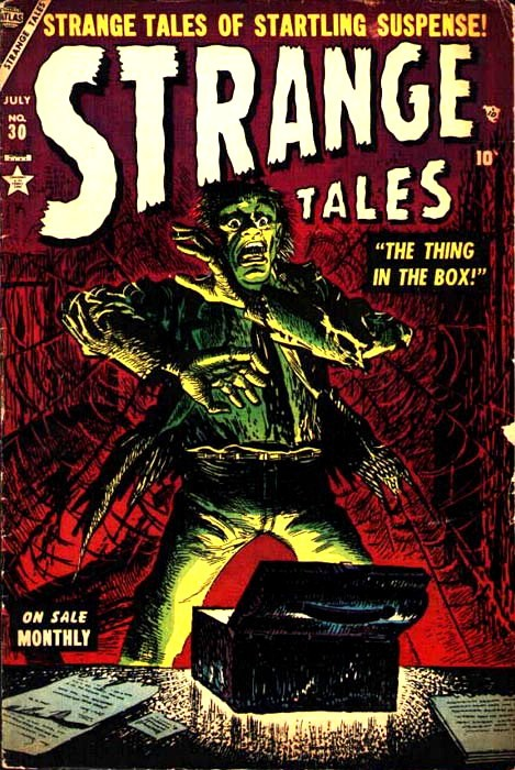 Couverture de Strange Tales (Marvel - 1951) -30- The Thing In the Box